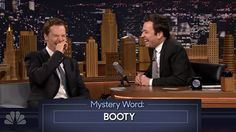 Watch Benedict Cumberbatch's 'booty' story put Jimmy Fallon into a giggle fit.