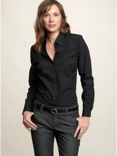 Black, light blue, white.  I want all three.  Gap The Perfect Shirt
