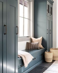 Mudroom Cabinets, Mudroom Laundry Room, Small Laundry Rooms, Bench Mudroom, Living Room Storage Cabinets, Laundry Room With Cabinets, Mud Room Lockers, Built In Bedroom Cabinets, Closet Mudroom
