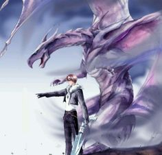 Squall and Bahamut