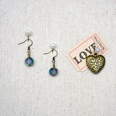 Nicole's #Bead Shop Blue #Bohemian #Earrings #jewelry #DIY