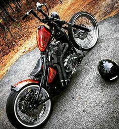 Cool little Metric Bobber - Moped - Motos Honda Bobber, Bobber Bikes, Harley Bobber, Harley Bikes, Ducati, Honda Shadow Bobber, Harley Sportster 1200, Moto Chopper, Chopper Motorcycle