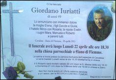 Necrologio, Giordano Juriatti – Ziano di Fiemme