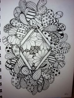 Zentangle  I want to try this using different polymer clay canes