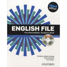 EBook English File Pre Intermediate Student Book & Itutor Pack (English File third edition) Author Clive Oxenden , Christina Latham-Koenig , et al. English File, English Book, English Grammar, Learn English, English Language, Grammar Book, English Class, English Vocabulary, Jenny Smith