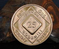 Narcotics Anonymous Vintage 25 Year Bronze Medallion 2005 Series Coin Chip Token | eBay
