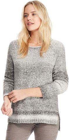 d956c6e0d11 Chaps Women s Stitched Leaf Crewneck Sweater Crewneck Sweater