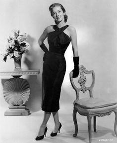 Vera Miles 50s cocktail dress