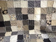 Rag Quilt Queen Size Little Black Dress Handmade to by DelilahKaye @ Adorable Decor : Beautiful Decorating Ideas!Adorable Decor : Beautiful Decorating Ideas!