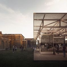 'After Image' by architects IF_DO is the competition-winning proposal for the first-ever 'Dulwich Pavilion'. To be constructed in the grounds of Sir John Soane's Dulwich Picture Gallery in the summer of 2017, the Pavilion will be the flagship installation of the London Festival of Architecture.   Visualisation by Forbes Massie.
