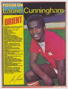 Laurie Cunningham Orient 1977 Pure Football, English Football League, Football Icon, Retro Football, World Football, Football Cards, Football Players, Leyton Orient Fc, Nostalgia