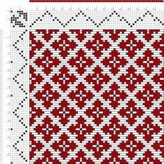 схема для красно- черной шкатулки(середина):
