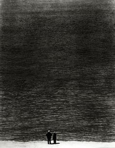 Ralph Steiner  Two Men and the Ocean, 1921    via http://wearefreeways.tumblr.com/post/30208049370/luzfosca-ralph-steiner-two-men-and-the-ocean#