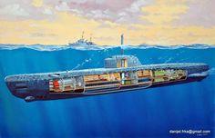 type xxi u boat - Search Yahoo Image Search Results Uss Arizona, Military Art, Military History, Naval History, Soviet Navy, German Submarines, Armada, Boat Design, Navy Ships