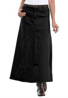 Denim Maxi Skirt | Plus Size Pants & Skirts | Jessica London