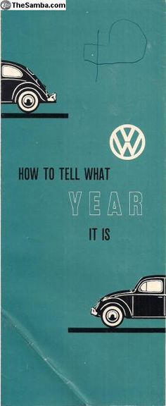 Vintage VW Brochure.