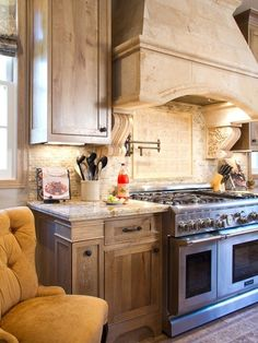 Nice cabinet finish traditional kitchen by Charmean Neithart Interiors, LLC. Beautiful Kitchens, Interior, Kitchen Remodel, Kitchen Decor, Interior Design Kitchen, Kitchen Dining Room, Home Kitchens, Kitchen Hoods, Kitchen Design