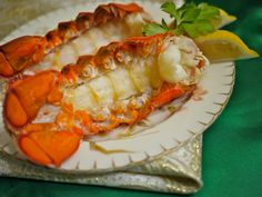 Easy lobster baked in the oven- great for special occasions.