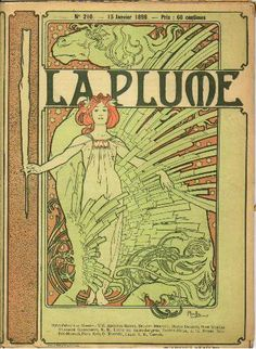 La Plume by Alphonse Mucha, January 1898