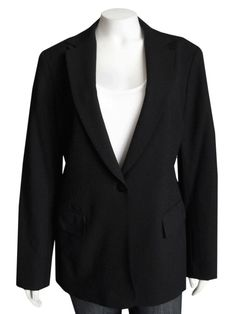 Lafayette 148 NY Black Stretch Wool Blazer size 8 | Pre-Owned This beautiful Lafayette 148 New York blazer is made out of a fine stretch wool blend material, and comes in a great basic black color... #Lafayette #148 #NewYork #jacket #black #wool #weartowork #clothing #clothes #used #preowned #consignment #onsale