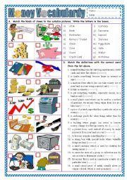 english worksheet money vocabulary money pinterest english money and vocabulary. Black Bedroom Furniture Sets. Home Design Ideas
