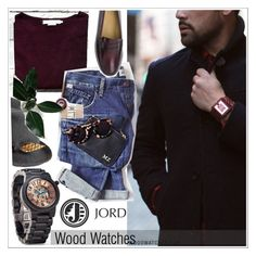 """Jord Wood watch"" by teoecar ❤ liked on Polyvore featuring mode, Justine Hats, G.H. Bass & Co. et jord"