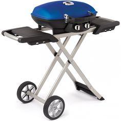 Napoleon TravelQ 285 Portable Propane Gas Grill On Cart - Blue