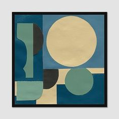 """Framed Print, Cool Graphic Shapes, I, 22""""x22"""""""