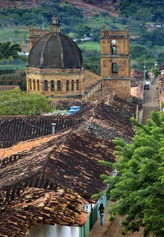 Colombia, Barichara, Colonial Town, National Monument, Santander Province, Cathedral de la Immaculada Concepcion
