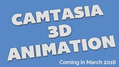 We are proud to present Camtasia 3D Text Animations project templates! These templates are fully editable, meaning you can change the text to your own, as well as the colors, font, size and animation.  Check out the overview video below to see samples of included Camtasia project templates. There are 10 premade templates included as well as a user guide for you to create your own animations and an overview video to see the included templates.