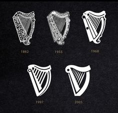 Iconic Guinness harp has been updated - First Redesign in 10 years - Simply Kreative Designz Blog