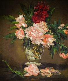 Edouard Manet - Vase of Peonies on a Pedestal, 1884 at Musée d'Orsay Paris France