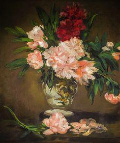 Edouard Manet - Vase of Peonies on a Pedestal, 1884