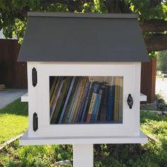 Little House on the Block Little Free Library in Orem, Utah. #LittleFreeLibrary