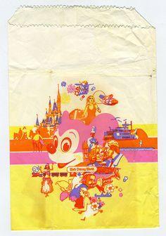 Walt Disney World Paper Bag circa 1982 #Disney #Disney_World