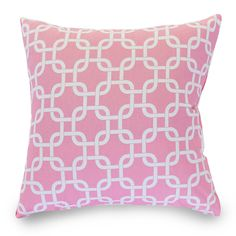 Soft Pink Links Extra Large Pillow