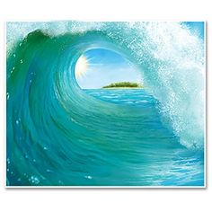 Surf wave backdrop from Amazon.com