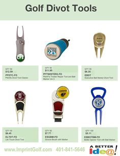 Custom Golf Outing Divot Tools on Sale! Personalized Golf Products at bargain prices. Golf Tournament Giveaway Prizes & Logo branded Gifts. www.imprintgolf.com 401-841-5646 #golftournament #golfoutings #golfgifts #golfonsale #golfspecials #newfor2017 #newgolfideas #golf #golfprizes #planningagolftournament #golftools #divottools