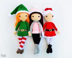Tres Patrones de Crochet  Edna el Duende Sarah la Muñeca de