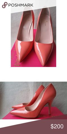 Kate Spade Licorice Too in Coral Kate Spade Licorice Too in Coral. Beautiful salmon red color. Worn once. kate spade Shoes Heels