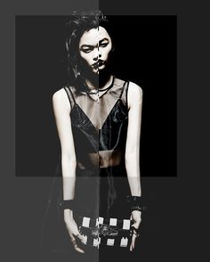 Beyond Control Editorial Spring 13 | SSENSE #black #dark #fashion #editorial #contrast