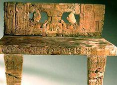 Stone throne recovered from Piedras Negras, the ruined city of the pre-Columbian Maya civilization located on the north bank of the Usumacinta River (CC BY-SA Tikal, Ancient Maya Art, Maya Civilization, Ruined City, Mesoamerican, Inca, Ancient Mysteries, In Ancient Times, Ancient Civilizations