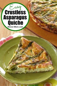 Enjoy the light fluffy flavor of Crustless Asparagus Quiche without the carbs! It's perfect for brunch or a light dinner! Enjoy the light fluffy flavor of Crustless Asparagus Quiche without the carbs! It's perfect for brunch or a light dinner! Asparagus Quiche, Asparagus Recipe, Vegetarian Recipes Dinner, Dinner Recipes, Low Carb Recipes, Healthy Recipes, Brunch, Quiche Recipes, Breakfast Recipes