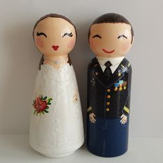 Items similar to Hand Painted Love Boxes Custom Wedding Bride Groom Cake Topper Peg Doll Wood on Etsy Custom Wedding Cake Toppers, Wedding Cakes, Bride Groom, Wedding Bride, Christmas Decorations, Christmas Ornaments, Winter Christmas, Custom Boxes, Here Comes The Bride