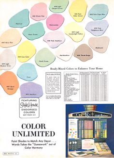 MCM paint colors - Montgomery Ward 1964