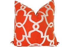 Custom Orange Trellis Sham on OneKingsLane.com