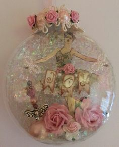 My first Xmas ornament shabby chic by Delores Miller