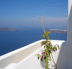 @Tholos Resort Hotel Santorini - balcony view to the North of the island #destination #greece #santorini