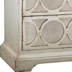 @Overstock.com - Distressed Cream Antiqued Mirror Accent Chest - This distressed cream finish antiqued mirror accent chest features three functional drawers. The chest offers elegant nickel finished hardware  http://www.overstock.com/Home-Garden/Distressed-Cream-Antiqued-Mirror-Accent-Chest/6761846/product.html?CID=214117 $312.29