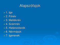 PPT - Szófajok PowerPoint Presentation - ID:1417202 Naha, Presentation, Weather, Education, Onderwijs, Weather Crafts, Learning